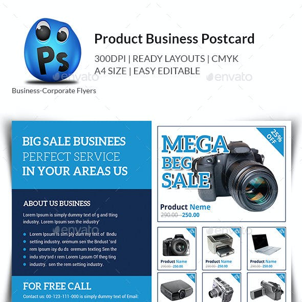 Product Promotion Postcard