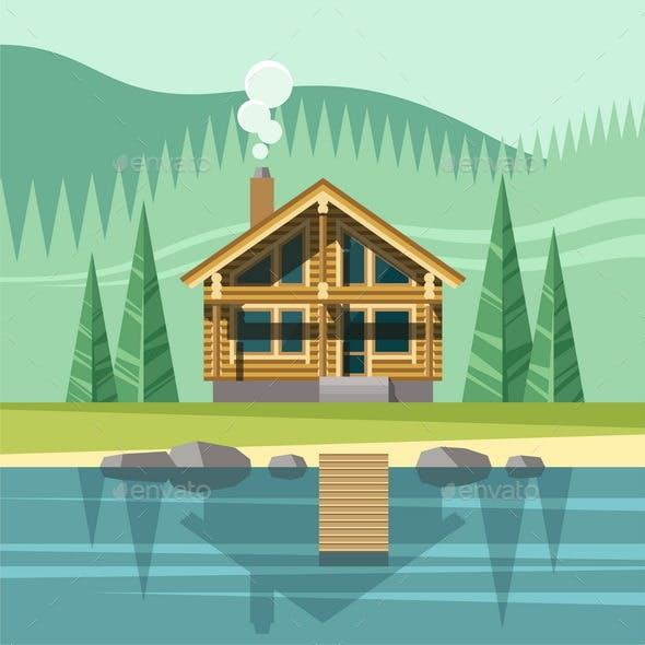 Chalet, Wooden House, Eco House.