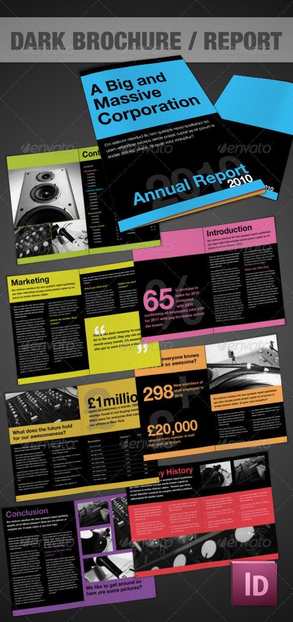 Dark Brochure - InDesign - Corporate Brochures