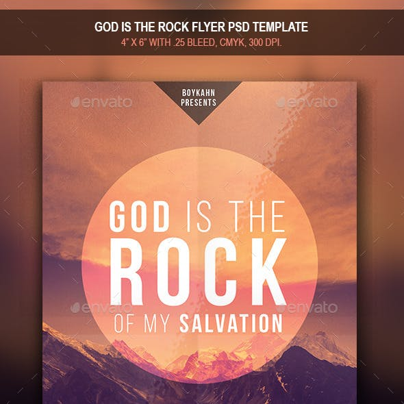 God is the rock | Flyer