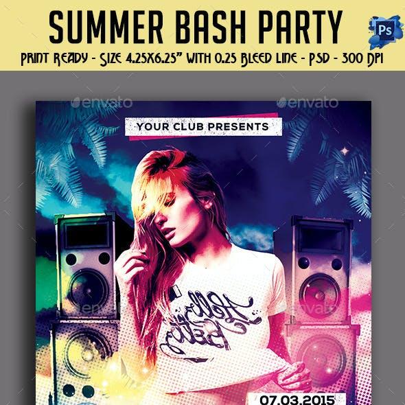 Summer Bash Party Flyer