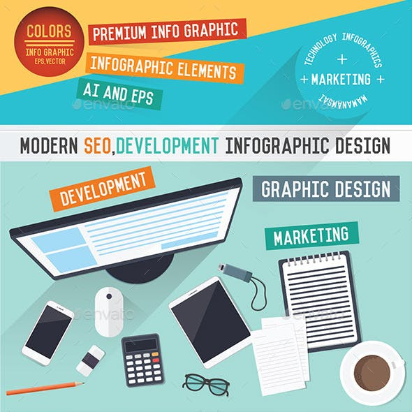 Marketing SEO Infographic design
