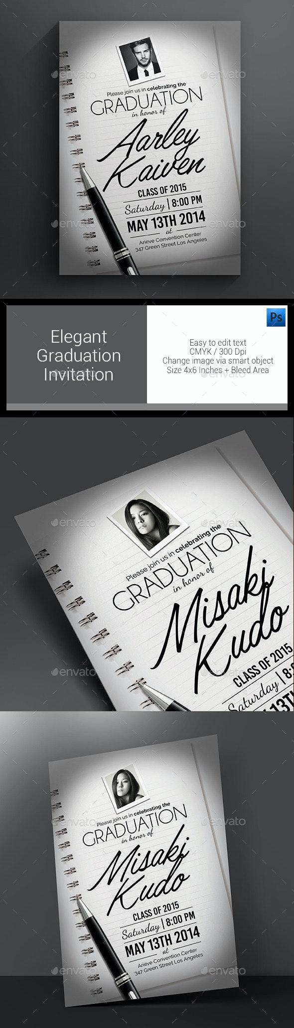 Elegant Graduation Invitation - Invitations Cards & Invites