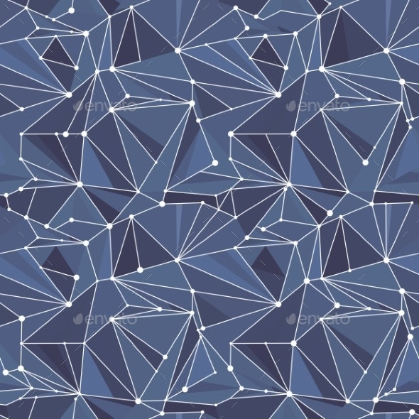 Indigo Geometric Vector Pattern - Patterns Decorative