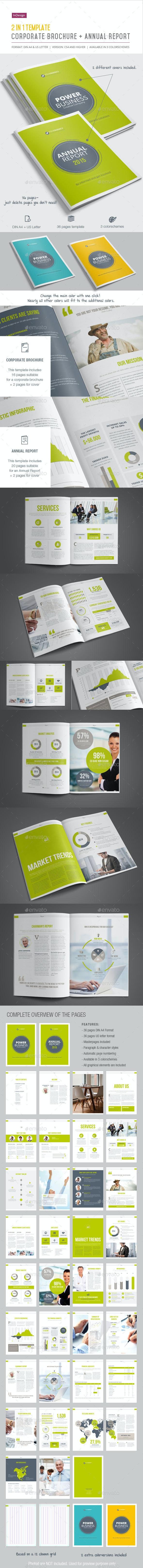 2-in-1 / Corporate Brochure + Annual Report - Informational Brochures