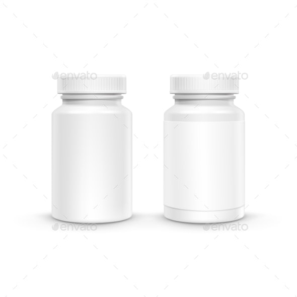Vector Blank Plastic Packaging Bottle For Pills - Miscellaneous Vectors