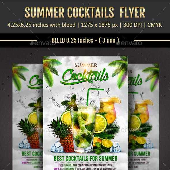 Summer Cocktails Flyer