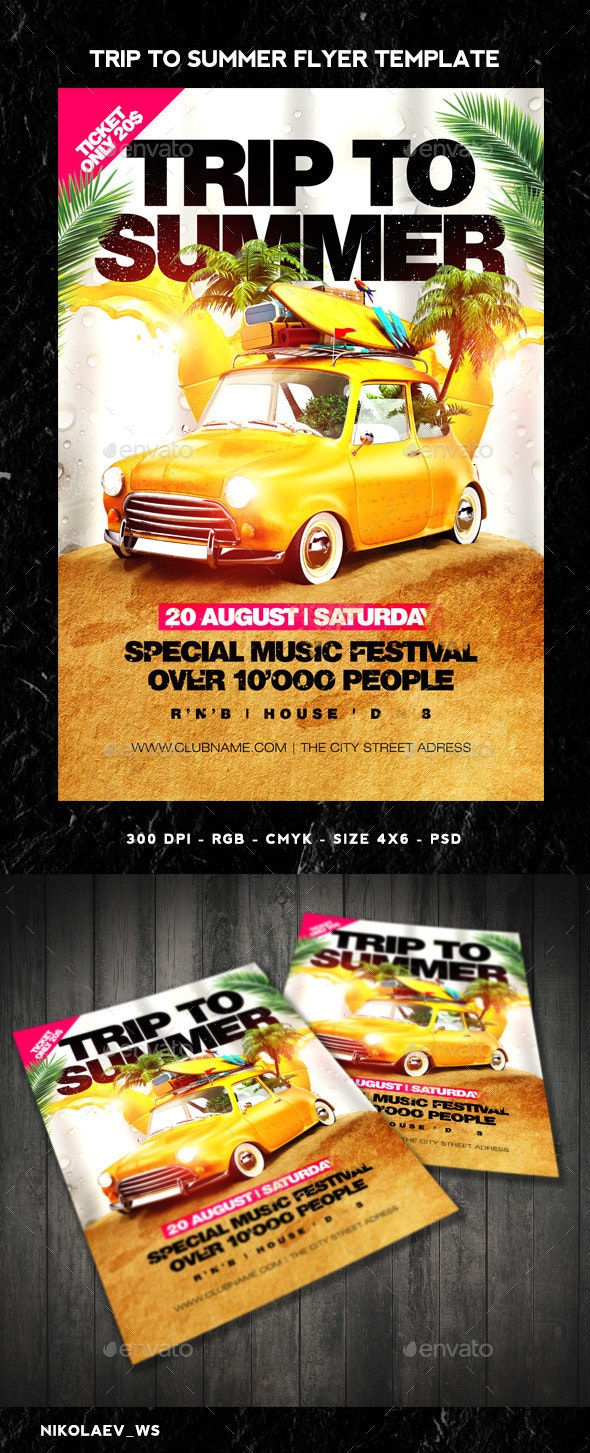 Trip To Summer Flyer - Clubs & Parties Events