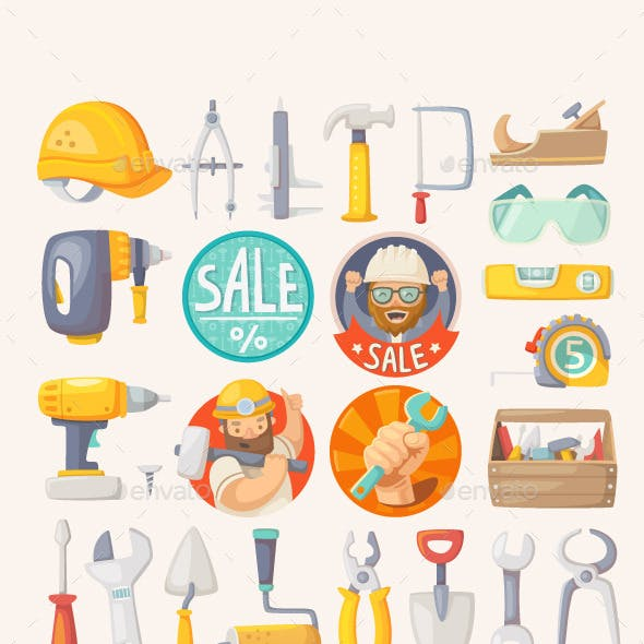 Collection of House Remodeling Tools