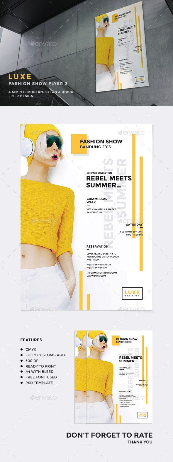 Luxe - Fashion Show Flyer v2 - Events Flyers
