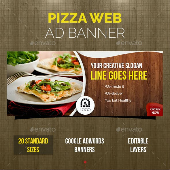 Pizza & Restaurant Ad Banners