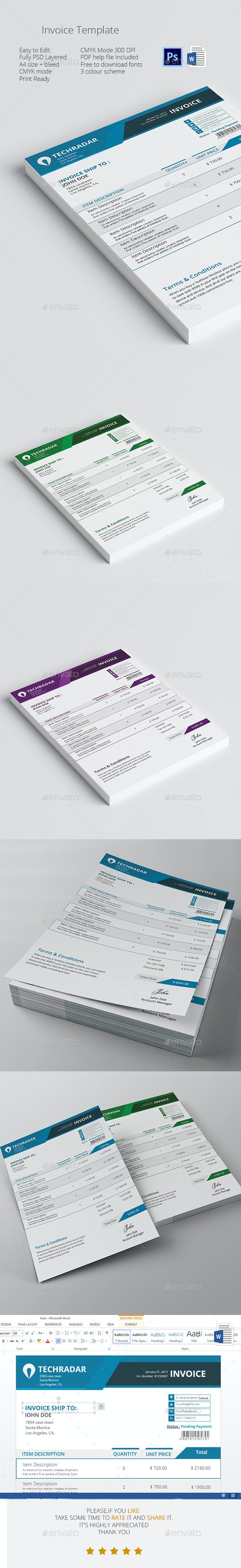 invoice template - Proposals & Invoices Stationery