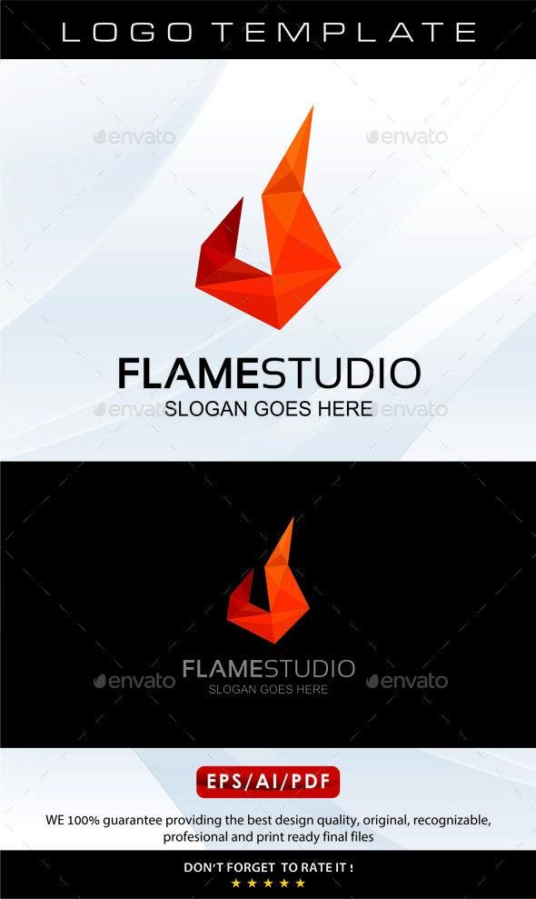 Flame Studio Logo - Vector Abstract