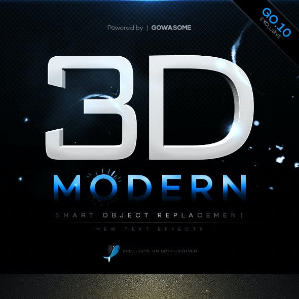 Modern 3D Text Effects GO.10