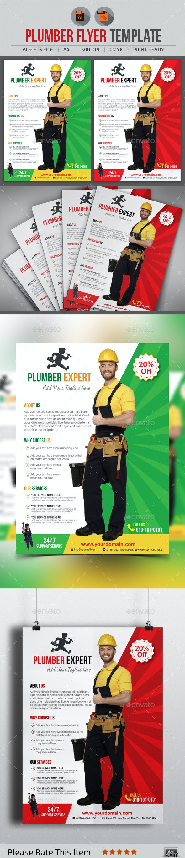 Plumber Flyer Template - Corporate Flyers