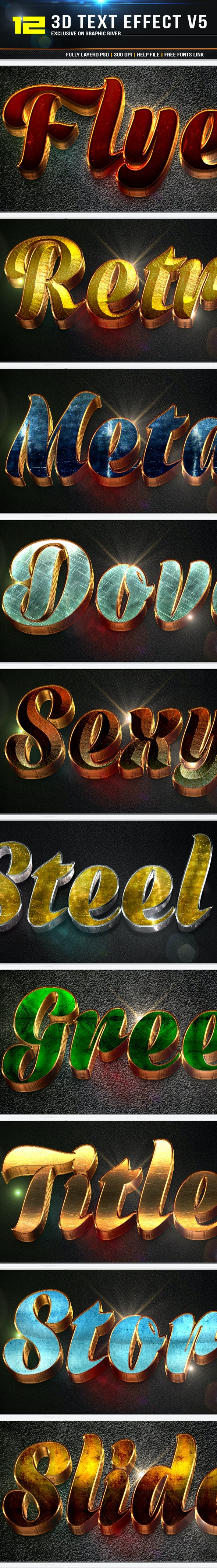 12 3D Text Effect v7 - Text Effects Styles