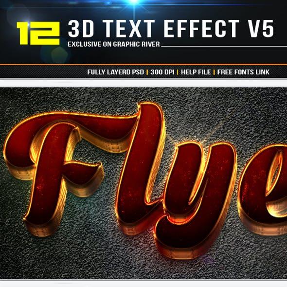 12 3D Text Effect v7