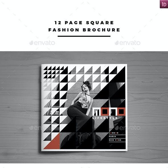 12 Page Square Fashion Brochure