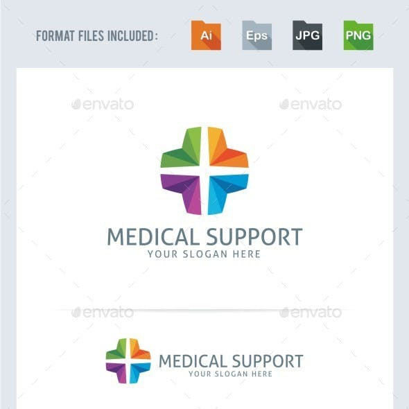 Medical Support Logo Template