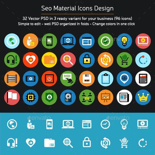 Seo Material Icons Design