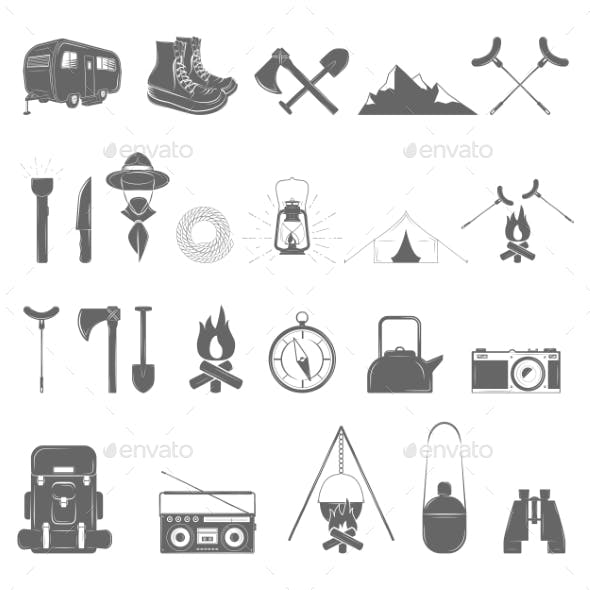 Outdoor Recreation Icon Set