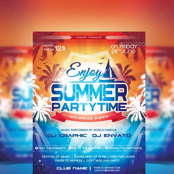 Summer Party Time Flyer