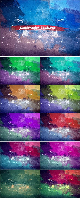 Watercolor Textures Set_3 - Art Textures