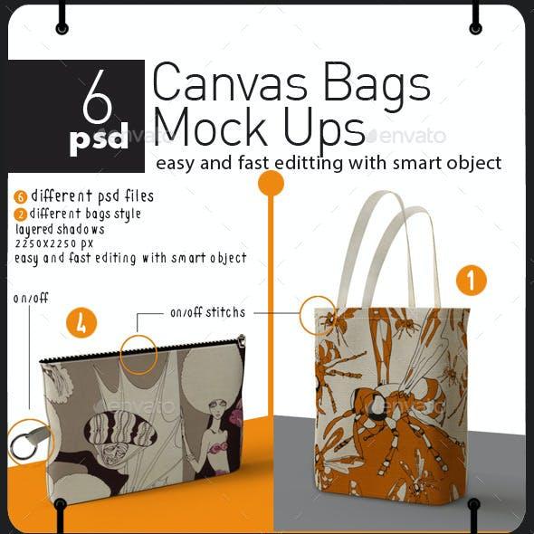 Canvas Bags Mock Ups