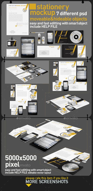 Stationery Pack Mock Up - Stationery Print