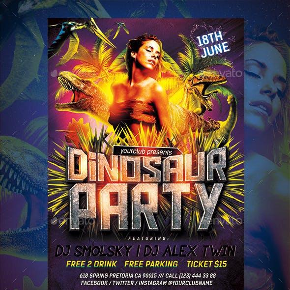 Dinosaur Party Flyer