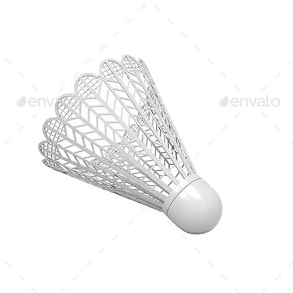 Isolated Plastic Shuttlecock