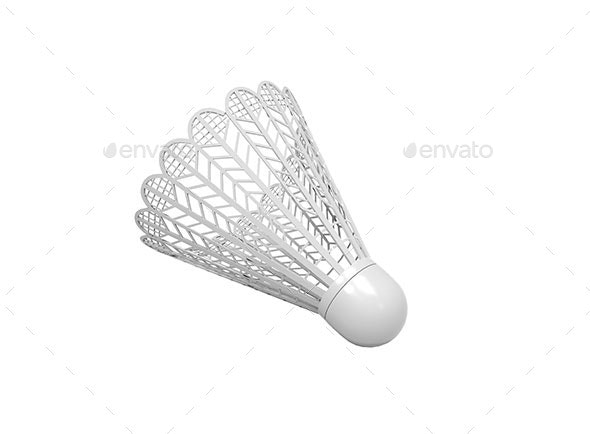 Isolated Plastic Shuttlecock  - Objects 3D Renders