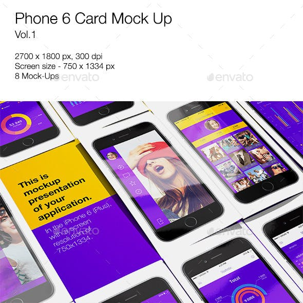 Phone 6 Card Mock-Up