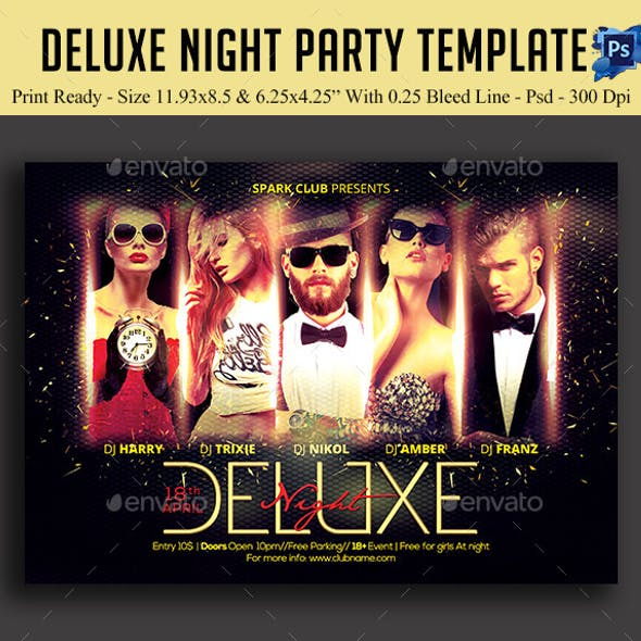 Deluxe Night Party Flyer
