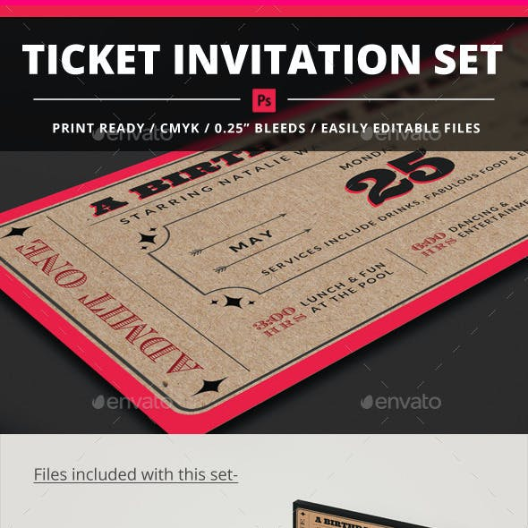 Ticket Invitation Set
