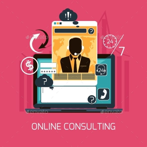 Online Consulting Concept