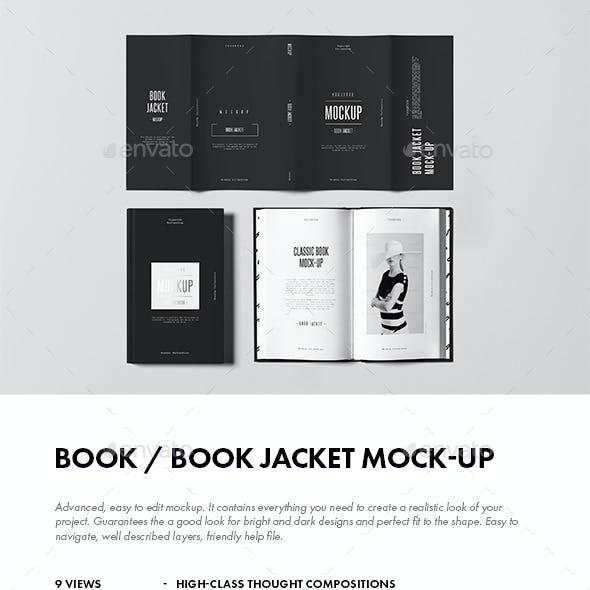 Book / Book Jacket Mock-up