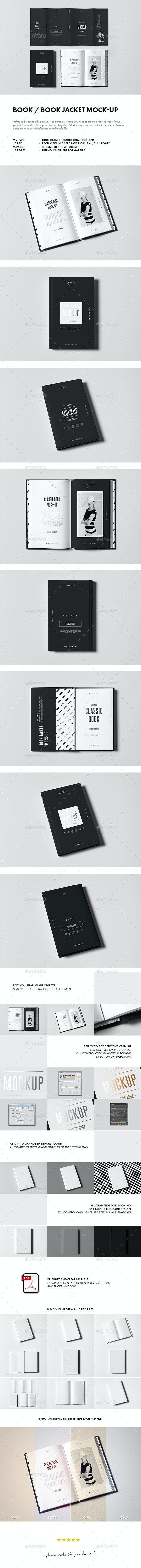 Book / Book Jacket Mock-up - Books Print