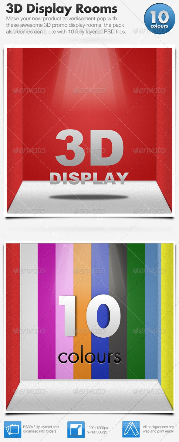 3D Product Shot Display Room - Miscellaneous Web Elements