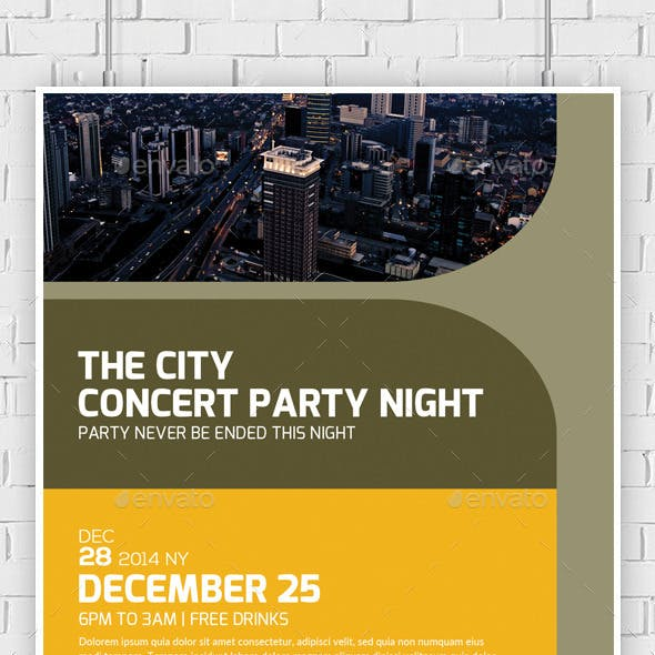 Futuristic City Concert Flyer / Poster