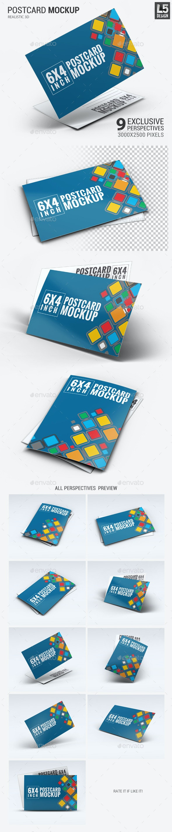 Realistic 6x4 Postcard Mock-Up - Miscellaneous Print