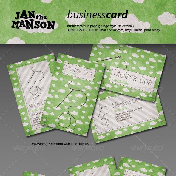 Cloudy Handicraft Buisiness Card