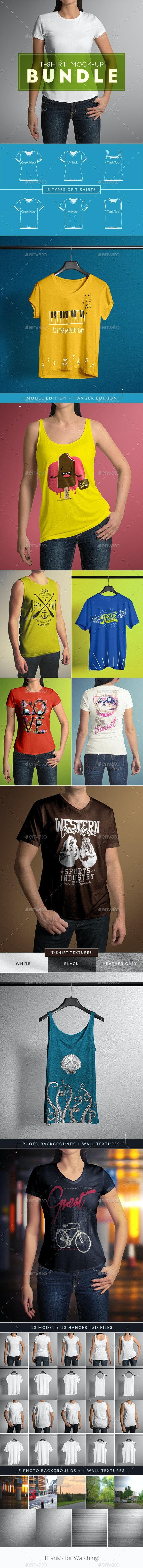 T-Shirt Mock-Up Bundle - T-shirts Apparel