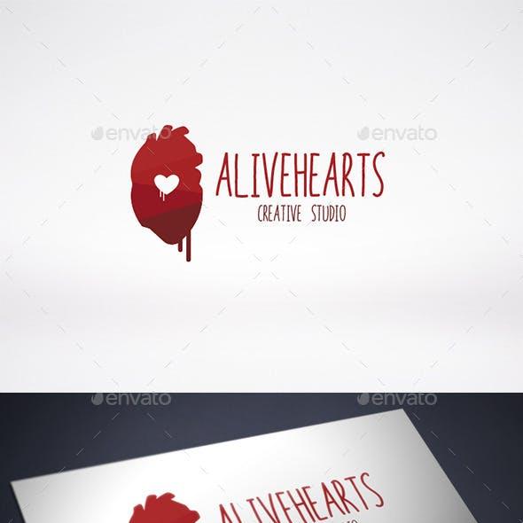 Heart Alive Logo Template
