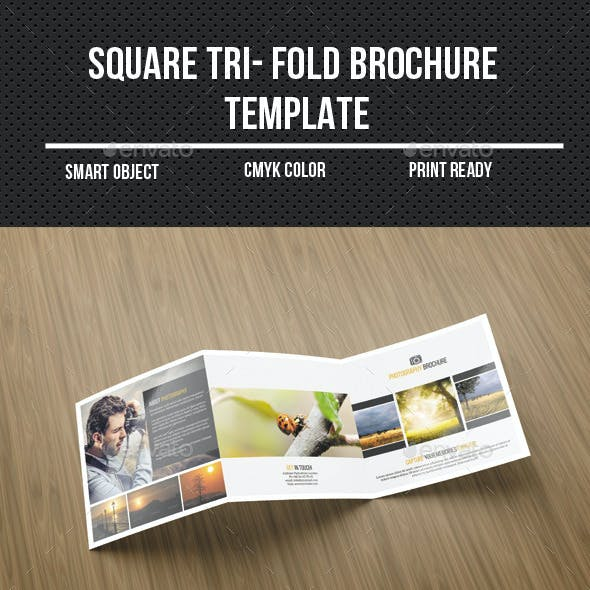 Square Tri-Fold Photography Brochure