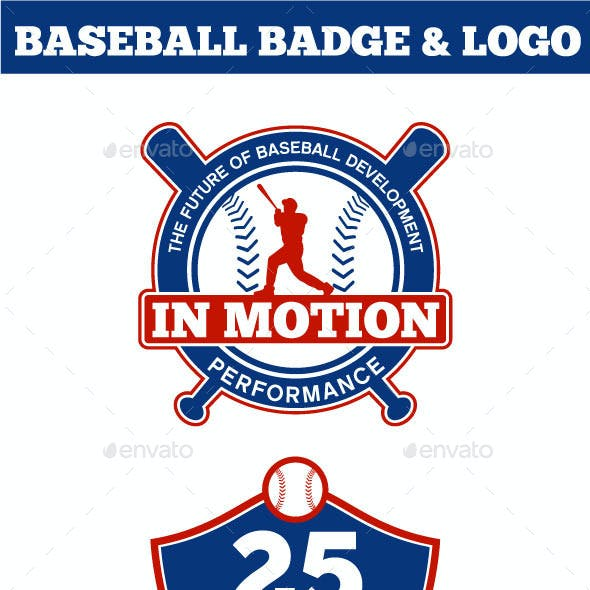 Baseball Badge & Logo