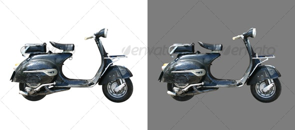 Classic Scooter / Bike - Activities & Leisure Isolated Objects