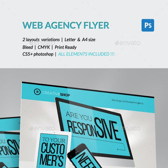 Creative Web Design Agency Flyer
