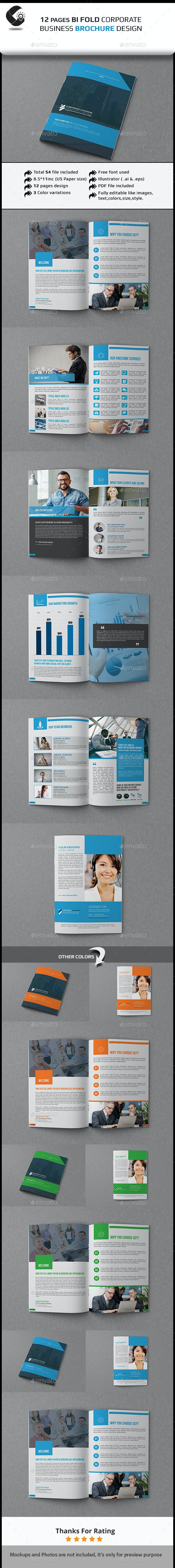 12 Pages Corporate Brochures - Corporate Brochures