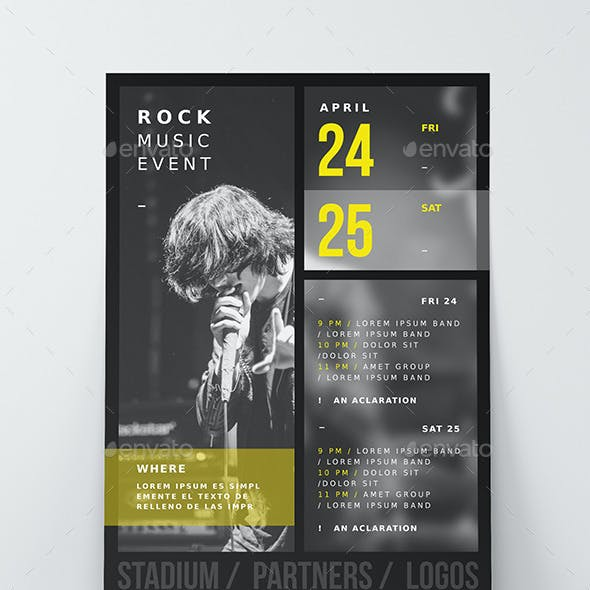 6 Music Event Poster / Flyer Templates
